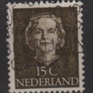 NETHERLANDS 1949 - Scott 310 used - 15c, Queen Juliana (9-612)