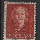 NETHERLANDS 1949 - Scott 312  used - 25c, Queen Juliana (9-614)