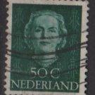 NETHERLANDS 1949 - Scott 317 used - 50c,, Queen Juliana (9-621)