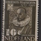 Netherlands 1950 - Scott 328 used - 10c, Janus Dousa (9-629)