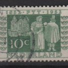 Netherlands 1952 - Scott 334 used - 10c, Mail delivery 1852   (9-636)