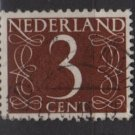 Netherlands 1953/57 - Scott 340 used - 3c, Numeral type of '46  (9-638)