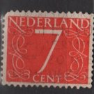 Netherlands 1953/57 - Scott 343 used - 7c, Numeral type of ´46     (9-642)