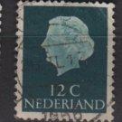 Netherlands 1953/71 - Scott 345 used - 12c, Queen Juliana   (9-648)