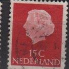 Netherlands 1953/71 - Scott 346 used - 15c, Queen Juliana (9-650)