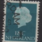 Netherlands 1953/71 - Scott 346c used - 18c, Queen Juliana (9-652)