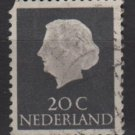 Netherlands 1953/71 - Scott 347 used - 20c, Queen Juliana (9-654)