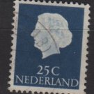 Netherlands 1953/71 - Scott 348 used - 25c, Queen Juliana (9-659)