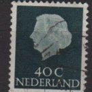 Netherlands 1953/71 - Scott 352 used - 40c, Queen Juliana (9-666)