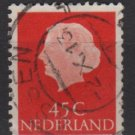 Netherlands 1953/71 - Scott 353  used - 45c, Queen Juliana (9-669)