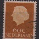 Netherlands 1953/71 - Scott  355  used - 60c, Queen Juliana (9-673)