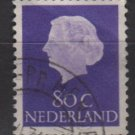 Netherlands 1953/71 - Scott  359  used - 80c, Queen Juliana (9-679)