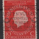 Netherlands 1954 - Scott 366 used - 10c, Queen Juliana   (9-688)