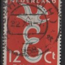 Netherlands 1958 - Scott  375  used -  12c , Europa issue   (9-698)
