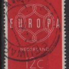 Netherlands 1959 - Scott 379 used - 12c, Europa issue  (9-704)