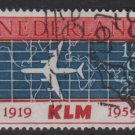 Netherlands 1959 - Scott 381 used - 12c, KLM DC 8  (9-705)