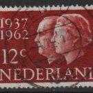 Netherlands 1962 - Scott 389 used - 12c, Queen Juliana & Prince Bernhard   (9-708)