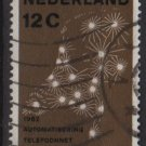 Netherlands 1962 - Scott 392 used - 12c, Telephone network    (9-710)