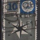 Netherlands 1957 - Scott 372 used - 10c, United Europe   (9-694)
