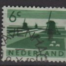 Netherlands 1962- Scott 401 used – 6c, Windmills   (9-714)