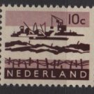 Netherlands 1962 ~ 1966 - Scott 403 MH – 10c, Dredging in Delta    (9-717)