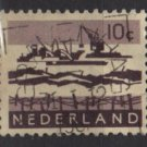 Netherlands 1962 ~ 1966 - Scott 403 used – 10c, Dredging in Delta   (9-718)