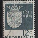 Netherlands 1964 - Scott 423 used - 12c, Arms of Groningen University (9-736)