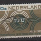 Netherlands 1965  - Scott 436 used - 20c,  International Telecommunication Union (9-754)