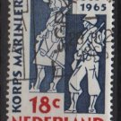 Netherlands 1965 - Scott 440 used - 18c Marine Corps 300th Anniv  (9-759)