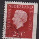 Netherlands 1969/75 - Scott 460 used - 25c, Queen Juliana  (9-764)