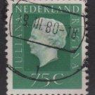 Netherlands 1969/75 - Scott 467 used - 75c, Queen Juliana  (9-782)