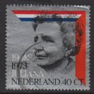 Netherlands 1973 - Scott 510 used - 40c, 25th Anniv. of Reign of Queen Julia (9-805)