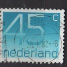 Netherlands 1976/86  - Scott 540 used - 45c, Numeral (9-815)