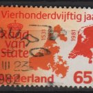 Netherlands 1981 - Scott 615 used - 65c, 450th Anniv of Council State (9-841)