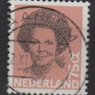 Netherlands 1981/86  - Scott 622 used - 75c,  Queen Beatrix  (9-847)