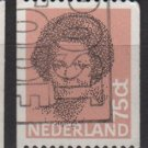 Netherlands 1981/86  - Scott 633 used - 75c,  Queen Beatrix (9-852)