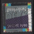 Netherlands 1990  - Scott  765  used - 50c,  Nederland (10-6)