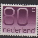 Netherlands 1991/94  - Scott 774  used - 80c, Numeral  (9-327)