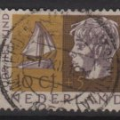 Netherlands, semi-postal,  1953 - Scott B262 used - 10c + 5c, Boy & sailboat (10-28)