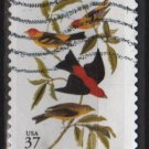 USA 2002 - Scott 3650 used - 37c, John J Audubon Birds (10-33)