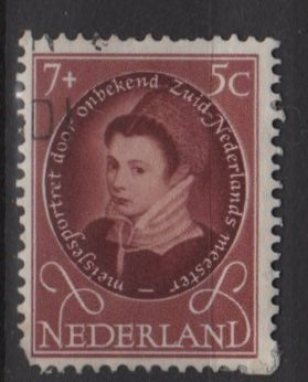 Netherlands, semi-postal, 1955 - Scott B288 used - 7c + 5c, Portraits  (10-43)