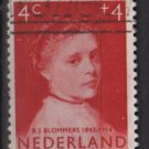 Netherlands, semi-postal, 1957 - Scott B316  used - 6c + 4c, girls&#39; portraits (10-51)