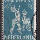 Netherlands, semi-postal, 1958 - Scott B326  used -  4c + 4c, Children's games (10-58)