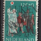 Netherlands, semi-postal, 1959 - Scott B339  used -  12c + 9c, children's crossing street (Ra-346)