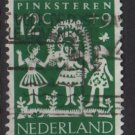 Netherlands, semi-postal, 1961 - Scott B361  used - 12c + 9c, Holiday folklore (10-65)