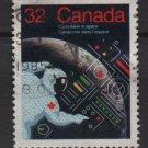 CANADA 1985 - scott 1046 used - 32c, Astronaut   (10-178)