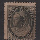 CANADA 1898 / 1902 - Scott 74 used - 1/2c Queen Victoria (red427)