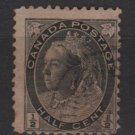 CANADA 1898 / 1902 - Scott 74 used - 1/2c Queen Victoria (red427)