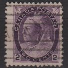 CANADA 1898/1902 - Scott 76 MH - 2c Queen Victoria (red1003)