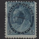 CANADA 1899 - Scott 79 used - 5c, Queen Victoria  (W-152)